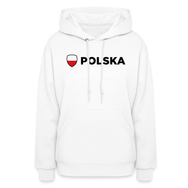 Poland Emblem Side 1 (3c) Hoodies