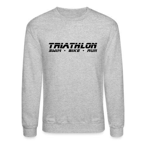 Triathlon Sleek Design Men's Crewneck Sweatshirt - Crewneck Sweatshirt