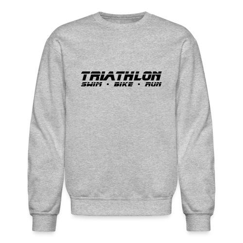 Triathlon Sleek Design Men's Crewneck Sweatshirt - Crewneck Sweatshirt