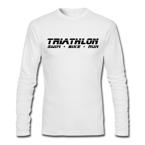 Triathlon Sleek Design Men's AA Long Sleeve Tee - Men's Long Sleeve T-Shirt by Next Level
