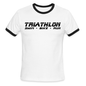 Triathlon Sleek Design Men's Lightweight Ringer Tee - Men's Ringer T-Shirt