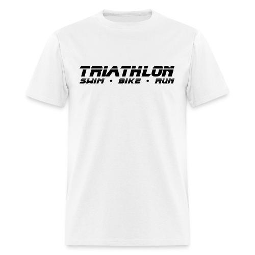 Triathlon Sleek Design Men's Standard Weight T-Shirt - Men's T-Shirt