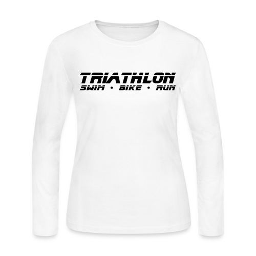 Triathlon Sleek Design Women's Long Sleeve Jersey Tee - Women's Long Sleeve Jersey T-Shirt