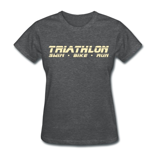 Triathlon Sleek Design Women's Standard Weight T-Shirt - Women's T-Shirt