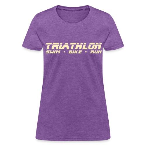 Triathlon Sleek Design Women's Standard Weight T-Shirt - Women's T-Shirt