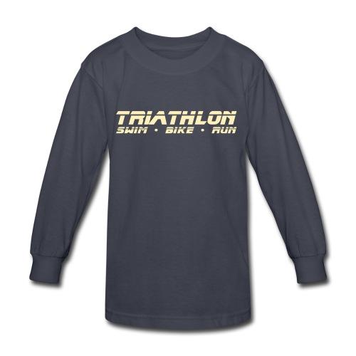 Triathlon Sleek Design Children's Long Sleeve T-Shirt - Kids' Long Sleeve T-Shirt