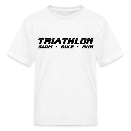 Triathlon Sleek Design Children's T-Shirt - Kids' T-Shirt