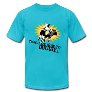 T-Shirts ~ Men's T-Shirt by American Apparel ~ Dougie Men's Teal AA Tee
