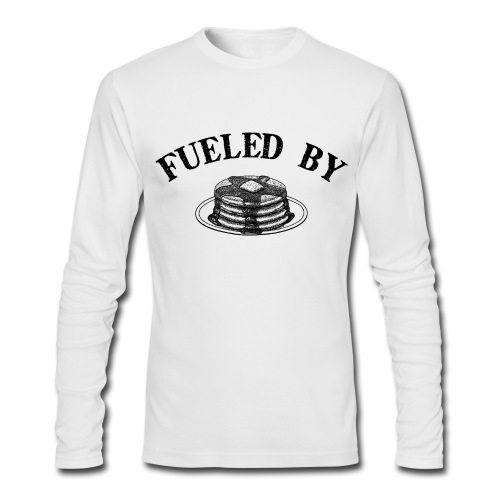 Fueled By Pancakes Men's AA Long Sleeve Tee - Men's Long Sleeve T-Shirt by Next Level