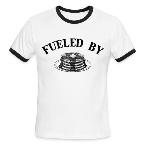 Fueled By Pancakes Men's Lightweight Ringer Tee - Men's Ringer T-Shirt