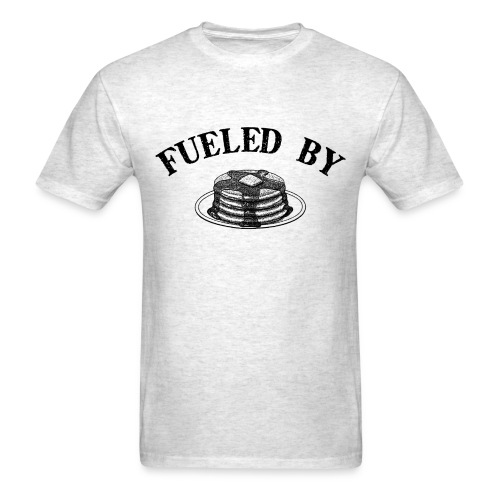 Fueled By Pancakes Men's Standard Weight T-Shirt - Men's T-Shirt