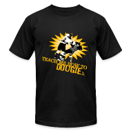 T-Shirts ~ Men's T-Shirt by American Apparel ~ Dougie Men's Black AA Tee