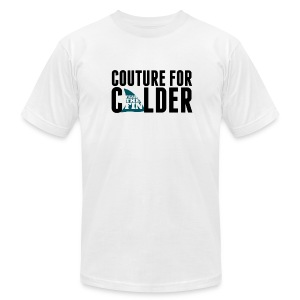 Couture For Calder Men's White AA Tee - Men's T-Shirt by American Apparel