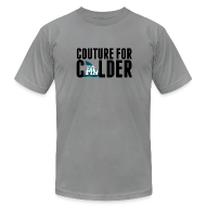 T-Shirts ~ Men's T-Shirt by American Apparel ~ Couture For Calder Men's Slate AA Tee