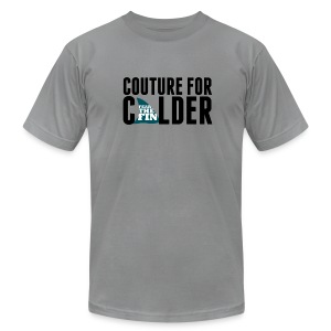 Couture For Calder Men's Slate AA Tee - Men's T-Shirt by American Apparel