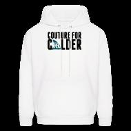 Hoodies ~ Men's Hoodie ~ Couture For Calder Men's White Hoodie