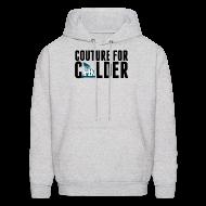 Hoodies ~ Men's Hoodie ~ Couture For Calder Men's Ash Hoodie