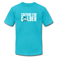 T-Shirts ~ Men's T-Shirt by American Apparel ~ Couture For Calder Men's Teal AA Tee