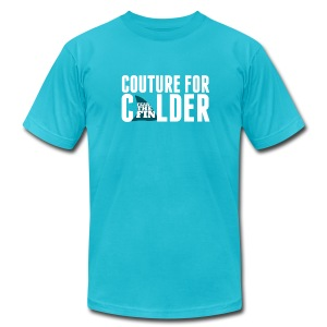 Couture For Calder Men's Teal AA Tee - Men's T-Shirt by American Apparel