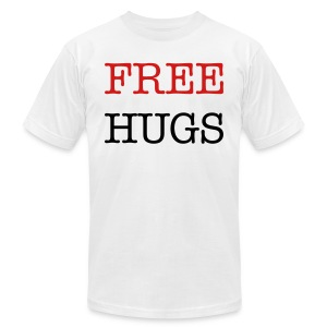 FREE HUGS 4 EVERYONE  - Men's T-Shirt by American Apparel