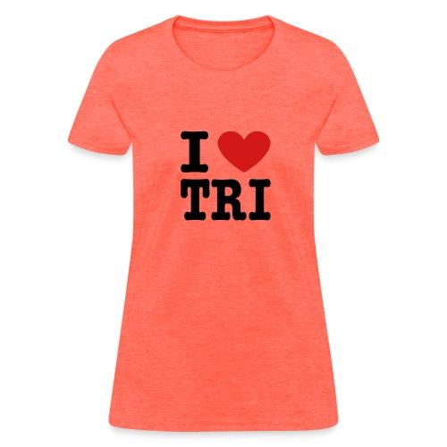I Heart Tri Women's Standard Weight T-Shirt - Women's T-Shirt