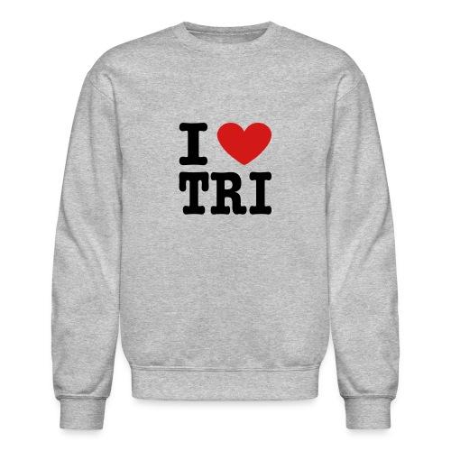 I Heart Tri Men's Crewneck Sweatshirt - Crewneck Sweatshirt
