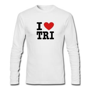 I Heart Tri Men's AA Long Sleeve Tee - Men's Long Sleeve T-Shirt by Next Level