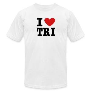 I Heart Tri Men's AA Tee - Men's Fine Jersey T-Shirt