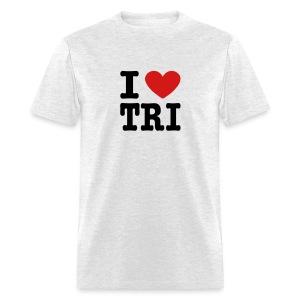 I Heart Tri Men's Standard Weight T-Shirt - Men's T-Shirt