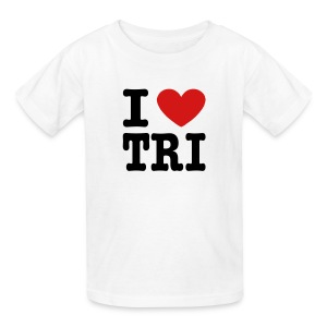 I Heart Tri Kid's T-Shirt - Kids' T-Shirt