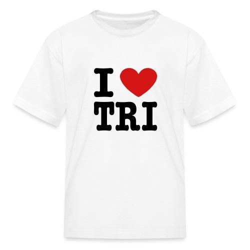 I Heart Tri Kid's T-Shirt - Kids' T-Shirt