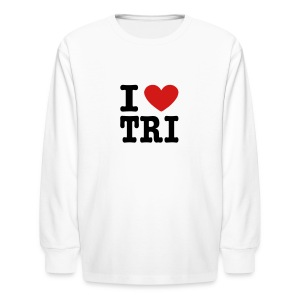 I Heart Tri Kid's Long Sleeve T-Shirt - Kids' Long Sleeve T-Shirt