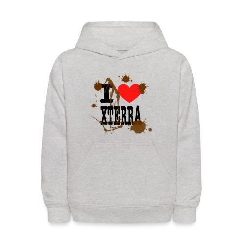 I Heart Xterra Muddy Design Kid's Hoodie - Kids' Hoodie