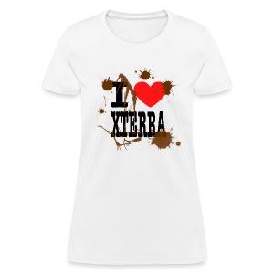 I Heart Xterra Muddy Design Women's Standard Weight T-Shirt - Women's T-Shirt