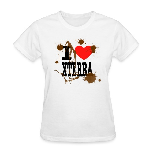 I Heart Xterra Muddy Design Women's Standard Weight T-Shirt - Women's T-Shirt