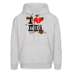 I Heart Xterra Muddy Design Men's Hoodie - Men's Hoodie