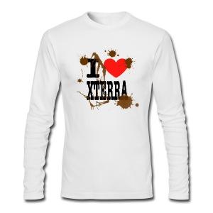 I Heart Xterra Muddy Design Men's AA Long Sleeve Tee - Men's Long Sleeve T-Shirt by Next Level