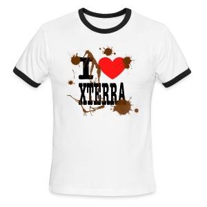 I Heart Xterra Muddy Design Men's Lightweight Ringer Tee - Men's Ringer T-Shirt
