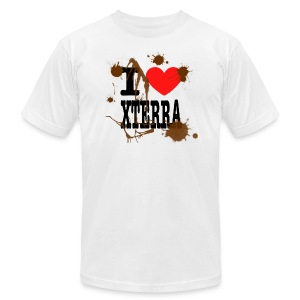 I Heart Xterra Muddy Design Men's AA Tee - Men's T-Shirt by American Apparel