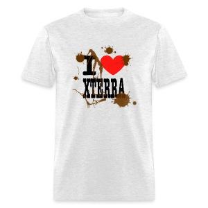 I Heart Xterra Muddy Design Men's Standard Weight T-Shirt - Men's T-Shirt