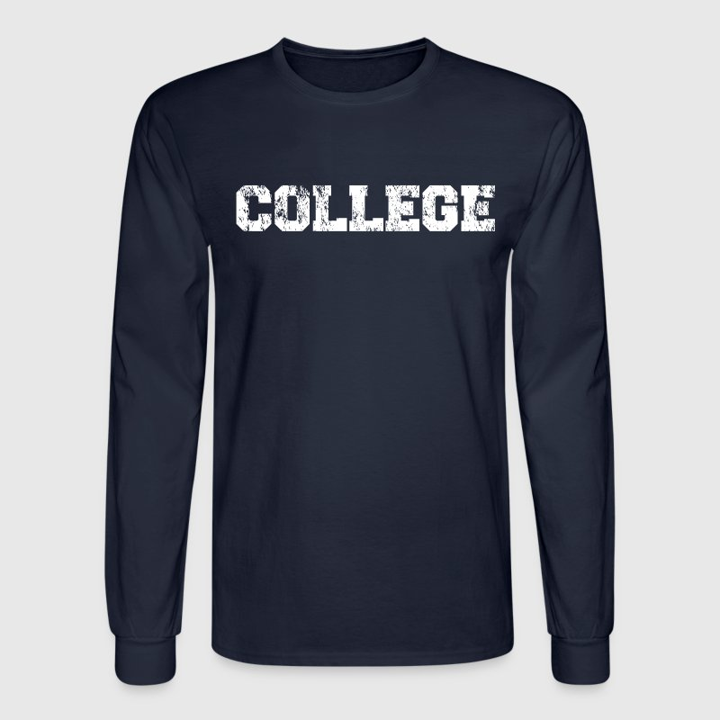 Animal House COLLEGE Vintage Long Sleeve T-Shirt - Men's Long Sleeve T-Shirt
