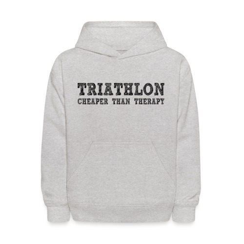 Triathlon - Cheaper Than Therapy Kid's Hoodie - Kids' Hoodie