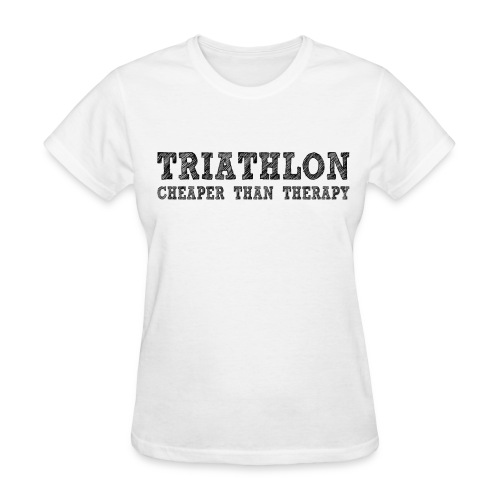 Triathlon - Cheaper Than Therapy Women's Standard Weight T-Shirt - Women's T-Shirt