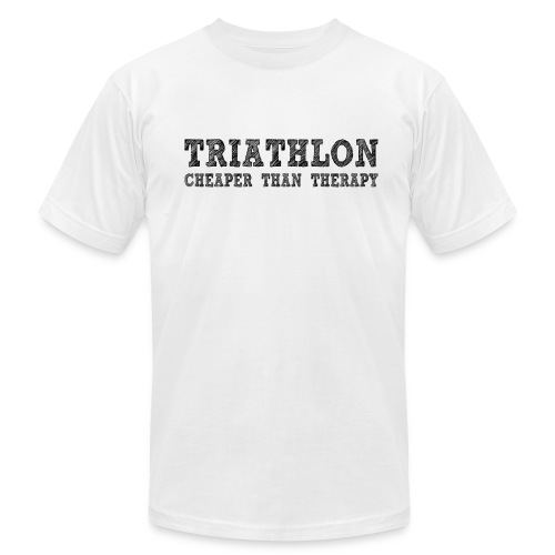 Triathlon - Cheaper Than Therapy Men's AA Tee - Men's Fine Jersey T-Shirt