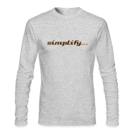 Long Sleeve Shirts ~ Men's Long Sleeve T-Shirt by Next Level ~ Simplify / Add Lightness : American Apparel long-sleeve t-shirt- Grey w/ Chocolate