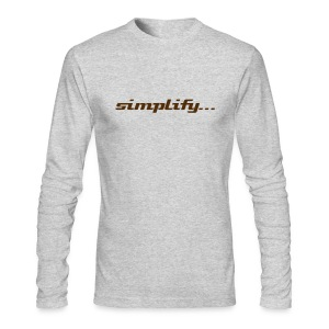 Simplify / Add Lightness : American Apparel long-sleeve t-shirt- Grey w/ Chocolate - Men's Long Sleeve T-Shirt by Next Level
