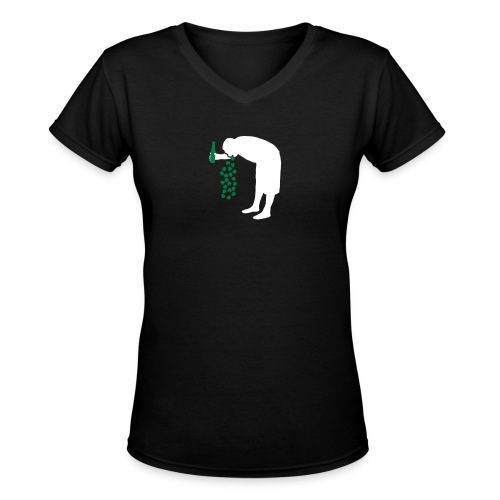 St. Patrick's Day Drunk - Women's V-Neck T-Shirt