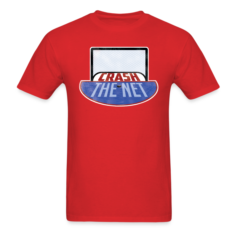 Crash The Net Red T-Shirt - Men's T-Shirt