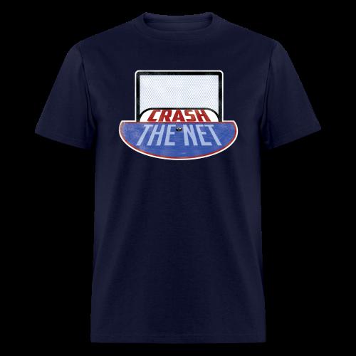 Crash The Net Navy T-Shirt - Men's T-Shirt