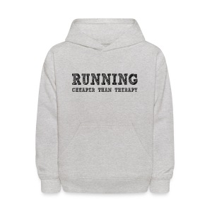 Running - Cheaper Than Therapy Kid's Hoodie - Kids' Hoodie